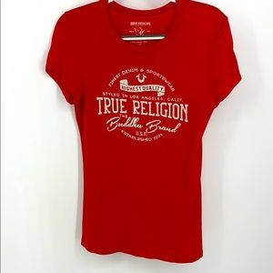 True religion T-shirt with bling on the front